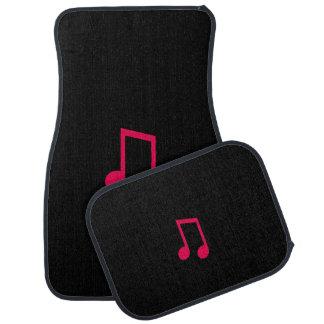 Single Bar Music Note Black & Pink Car Floor Mats Car Mat