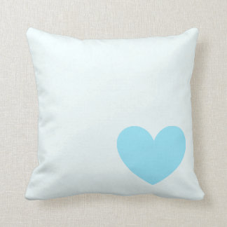 Single Blue Heart Pillow