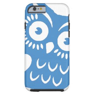 Single Blue Owl Tough iPhone 6 Case