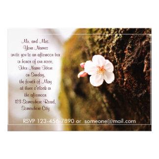 Single Cherry Blossom Tree Trunk Sakura Spring Personalized Invitation