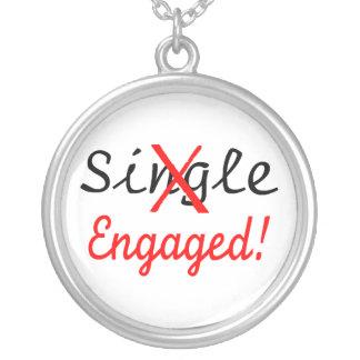 Single Engaged Round Pendant Necklace