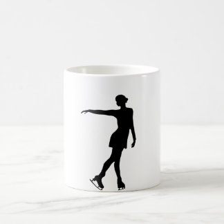 Single Figure Skater Black & White Magic Mug