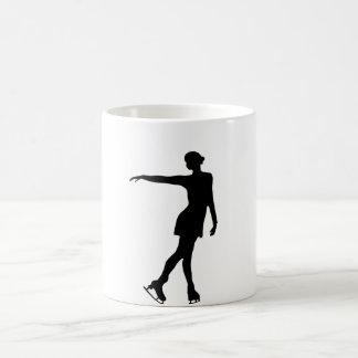 Single Figure Skater Black & White Coffee Mug
