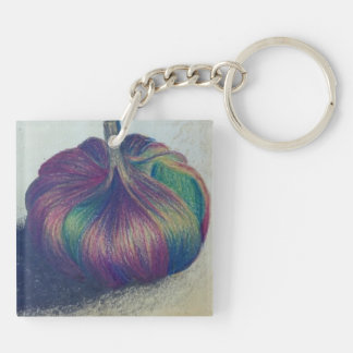 Single Garlic Clove Keyring