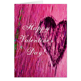 Single Heart Happy Valentine's Day In Pink Cards