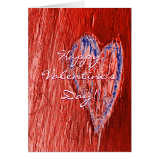 Single Heart Happy Valentine's Day In Red Greeting Card