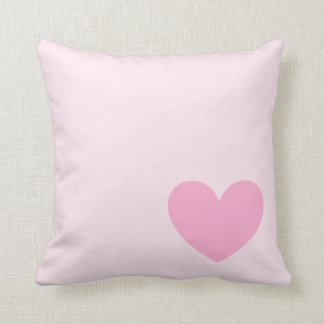Single Pink Heart Pillow Cushion