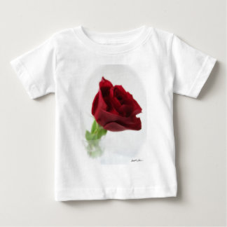 Single Red Rose in Glass 2 Baby T-Shirt