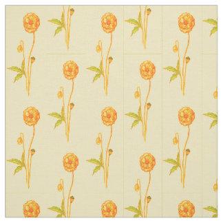 Single Stem Flower Pattern Fabric