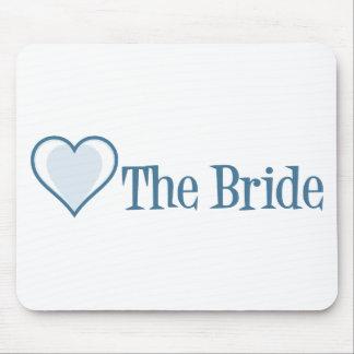 SingleHeart-Bride-Blue Mouse Pad