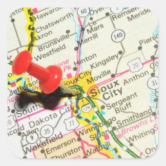Sioux City, Iowa Square Sticker
