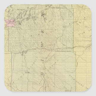 Sioux, Dawes, and Sheridan County, Nebraska Square Sticker