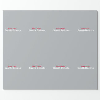 Sioux Falls, South Dakota Wrapping Paper