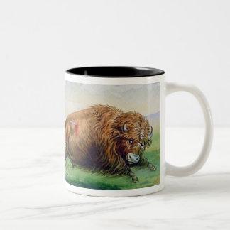 Sioux hunting buffalo on decorated pony (oil on ca coffee mug