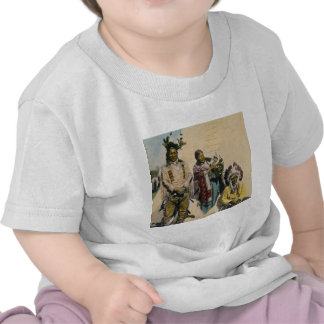 Sioux Indian Grey Eagle and Family Stereoview Tees
