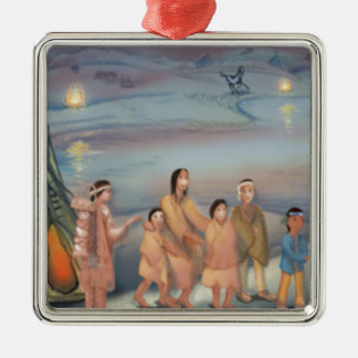 Sioux Indian village Christmas Ornament