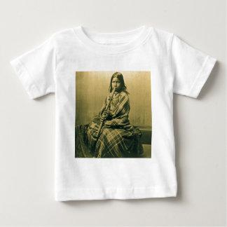 Sioux Musician Girl Sepia Baby T-Shirt
