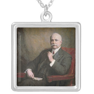 Sir Edward Hopkinson Holden First Baronet Silver Plated Necklace