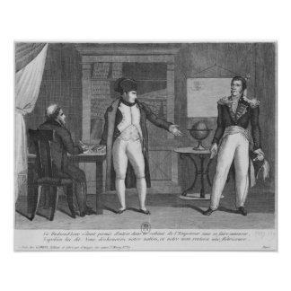 Sir Hudson Lowe comming in the study of Napoleon Poster