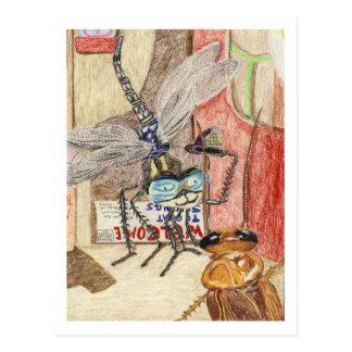 Sir Humphrey The Dragonfly Detective Postcard