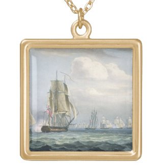 Sir Sidney Smith's (1764-1840) Squadron engaging a Gold Plated Necklace