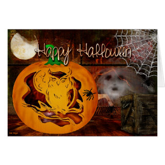 Sirens Haunted Halloween Pumpkin Carving Greeting Card