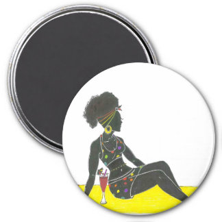 Sista Makes Some Me-time 7.5 Cm Round Magnet