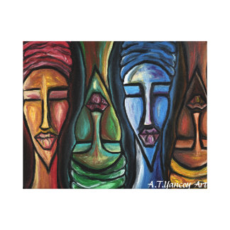 Sistas United Stretched Canvas Print