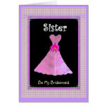 SISTER - Bridesmaid Pink Gown Plaid Trim