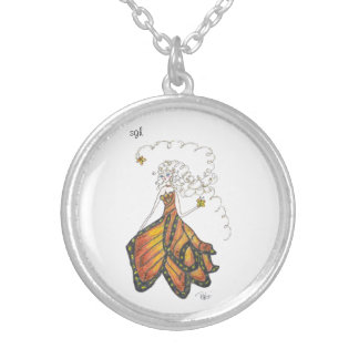 sister golden hair butterfly dress locket