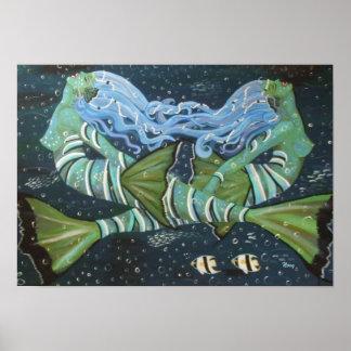 Sister Mermaids Canvas Print