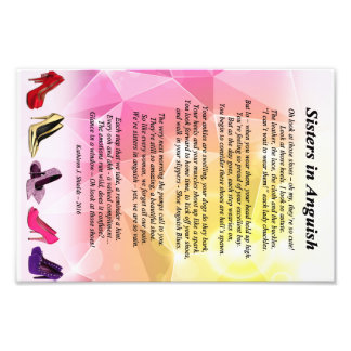 Sisters in Anguish Poem (Shoes) Photographic Print
