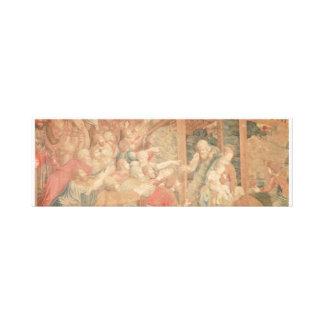 "Sistine Chapel Wall Fresco, 36""x12""x2.5"" Stretched Canvas Print"