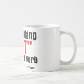SIT ACTIVE VERB CLASSIC WHITE COFFEE MUG