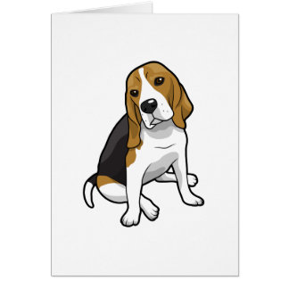 Sitting Beagle Card