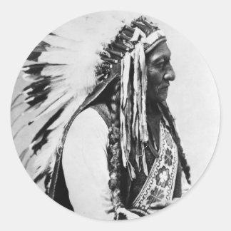 Sitting Bull, a Hunkpapa Sioux Classic Round Sticker