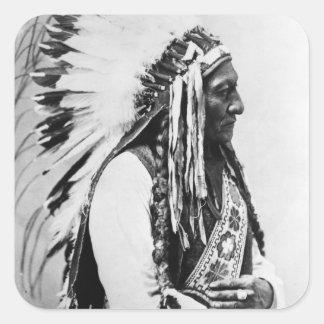 Sitting Bull, a Hunkpapa Sioux Square Sticker