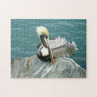 Sitting Pelican Jigsaw Puzzle