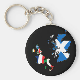 Six Nations Championship 11th Series Basic Round Button Key Ring