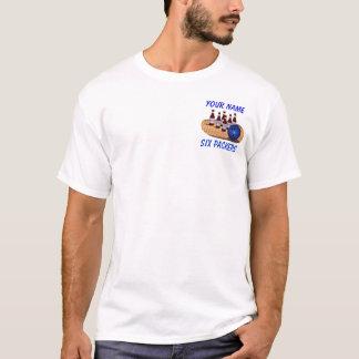 Six Packers Bowling Shirt White