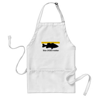 """""""Size Does Matter"""" - Funny bass fishing Standard Apron"""