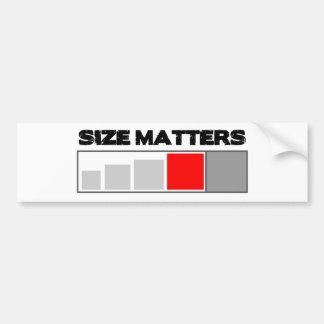 Size Matters - Geocaching Stuff Bumper Sticker