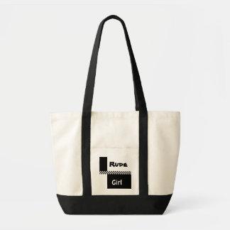 ska checks1, Rude , Girl Tote Bag