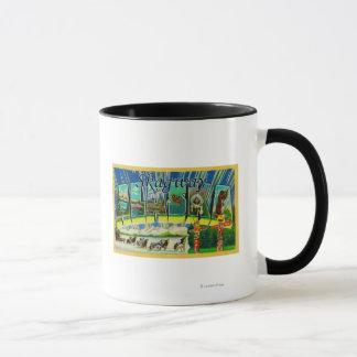 Skagway, Alaska - Large Letter Scenes Mug
