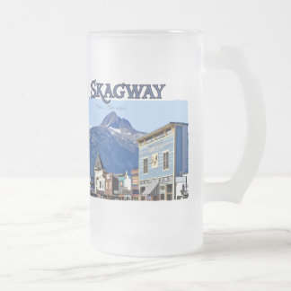 Skagway Frosted Glass Mug