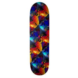"Skate Board Dance Music Abstract 8½"""