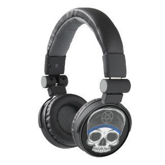 Skate Rock Skull (blue bandana) Headphones