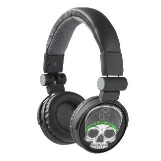 Skate Rock Skull (green bandana) Headphones