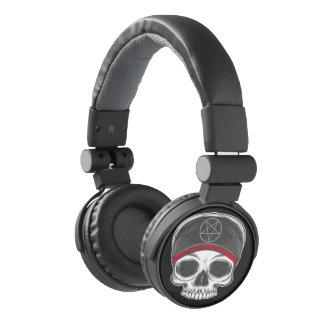 Skate Rock Skull (red bandana) Headphones