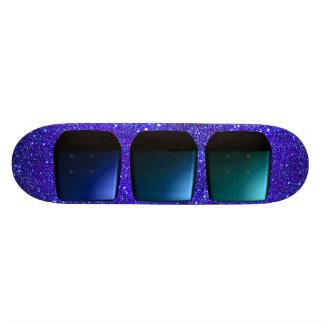 Skateboard 3d Boxes Futuristic Design Starfield